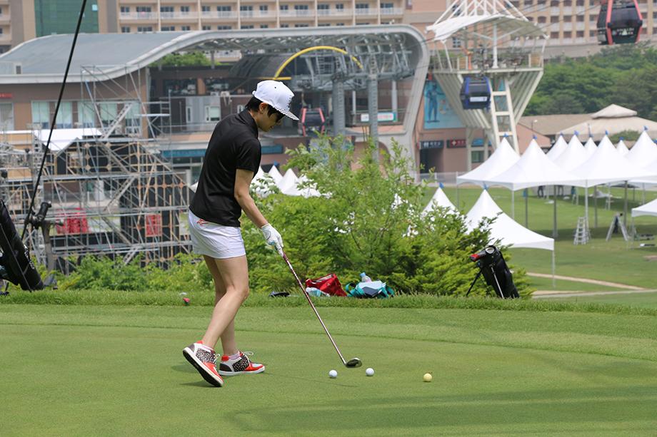 골프 치는 모습(1)