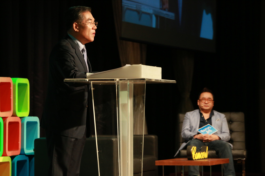 이의현 대표이사, 김영세 회장