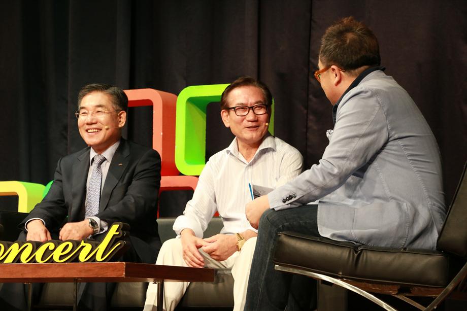 이의현 대표이사, 김홍렬 회장, 김영세 회장