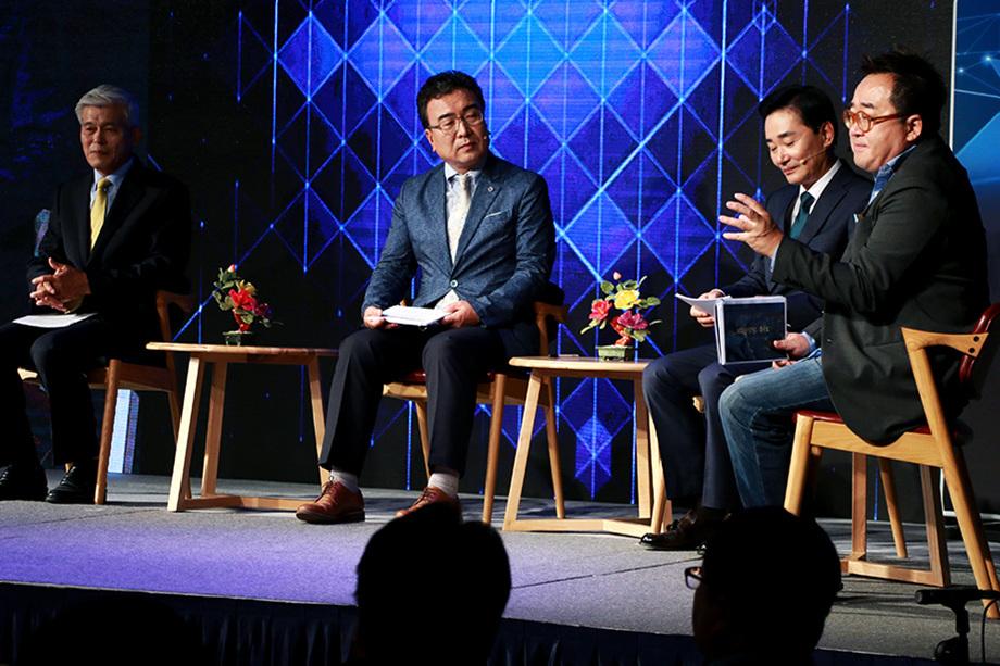 김영세 회장, 이종수 대표, 이영준 대표