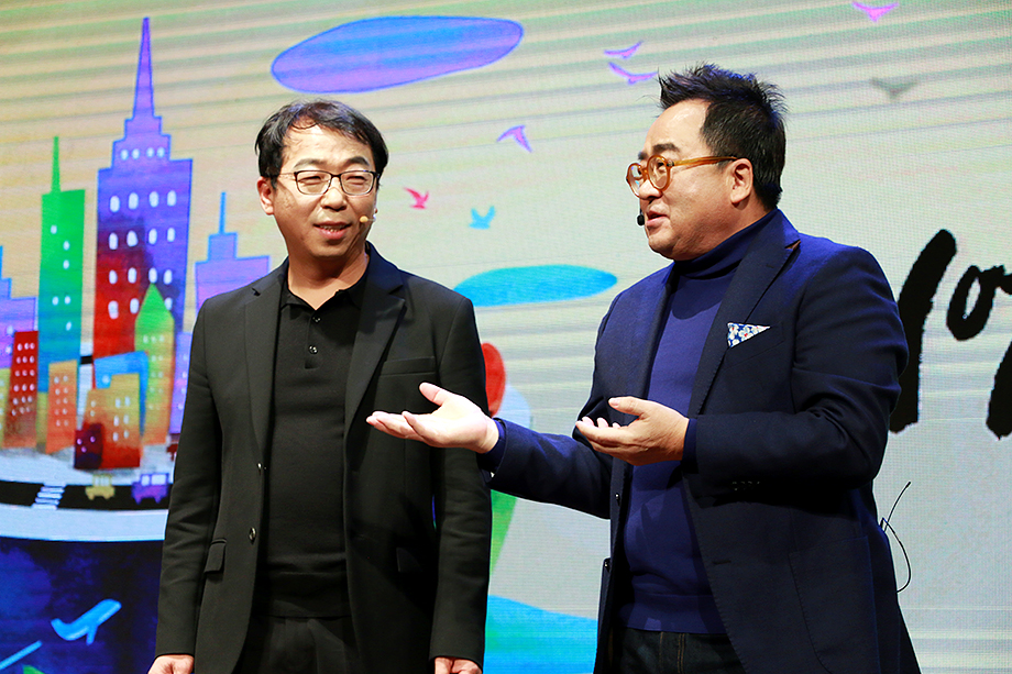 유영호 대표이사, 김영세 회장